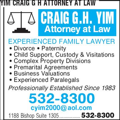 Yim Craig G H Attorney At Law
