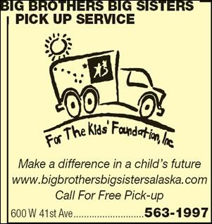 Big Brothers/Big Sisters Pick Up Service