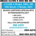 Umaki Clyde S DDS MS Inc
