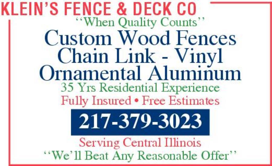 Klein's Fence & Deck Co