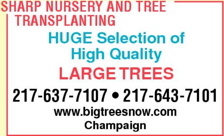 Sharp Nursery And Tree Transplanting