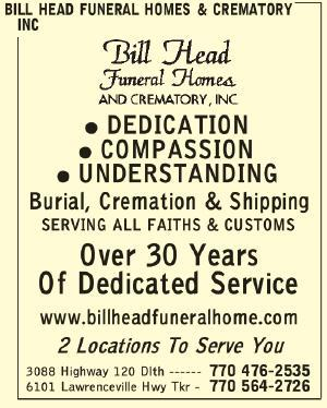 Bill Head Funeral Homes & Crematory Inc