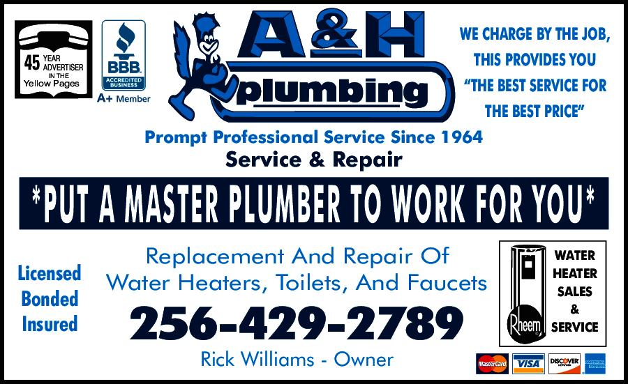 A Amp H Plumbing Co Huntsville Al 35801 Yp Com