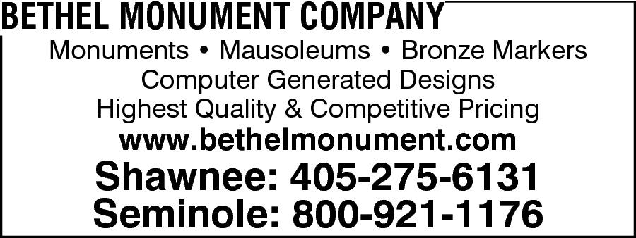 Bethel Monuments