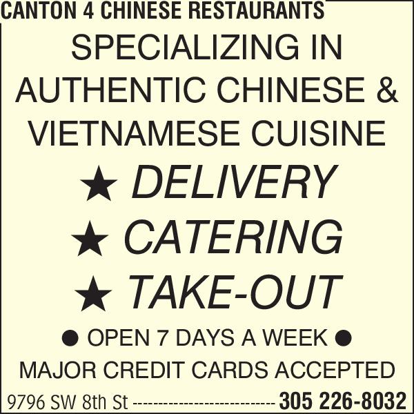 Canton 4 Chinese Restaurant