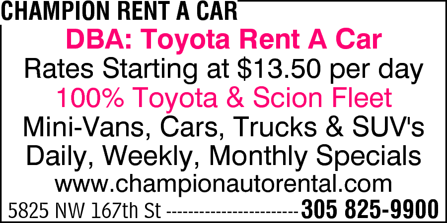 Champion Rent-A-Car