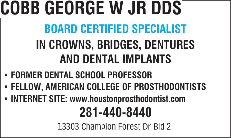 Cobb George W. Jr. DDS