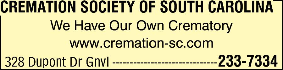 Cremation Society Of South Carolina