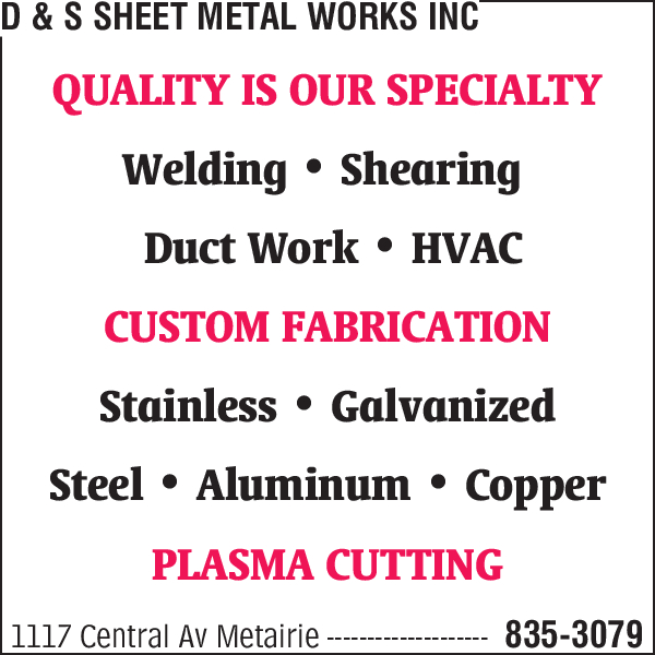 D & S Sheet Metal Works Inc