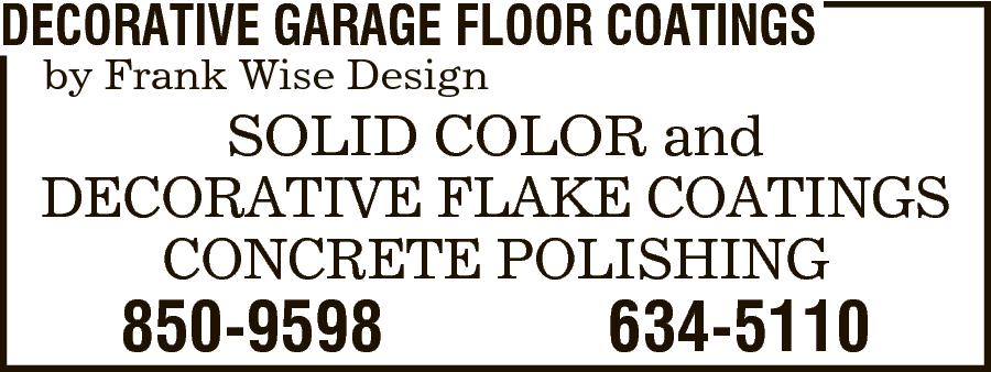 Decorative Garage Floor Coatings