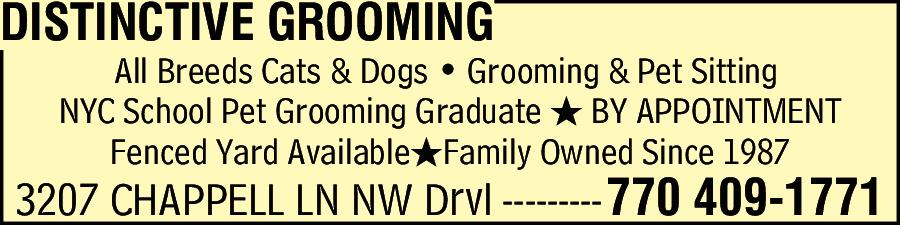 Distinctive Grooming
