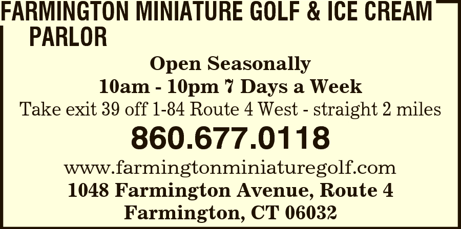 Farmington Miniature Golf LLC