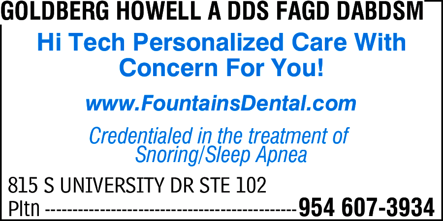 Goldberg, Howell A DDS FAGD DABDSM