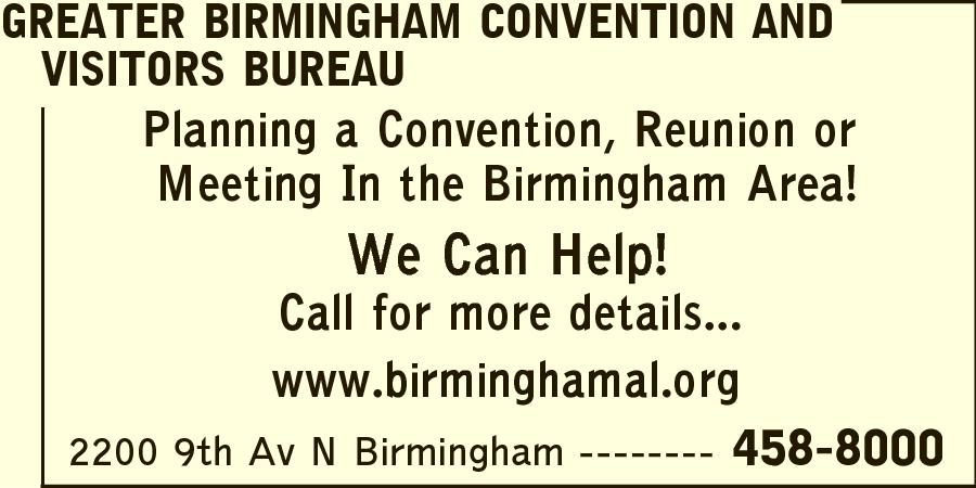 Greater Birmingham Convention And Visitors Bureau