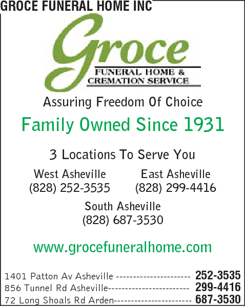 Groce Funeral Home Inc