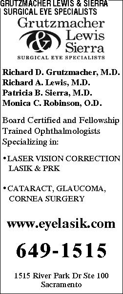 Grutzmacher Lewis & Sierra Sacramento Eye Consultants