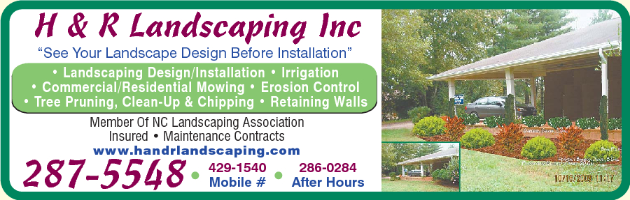 H & R Landscaping Inc-