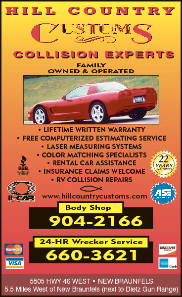 Hill Country Customs Collision Experts