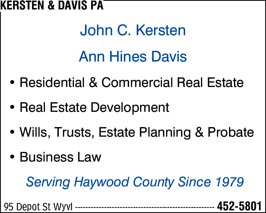Kersten & Davis PA
