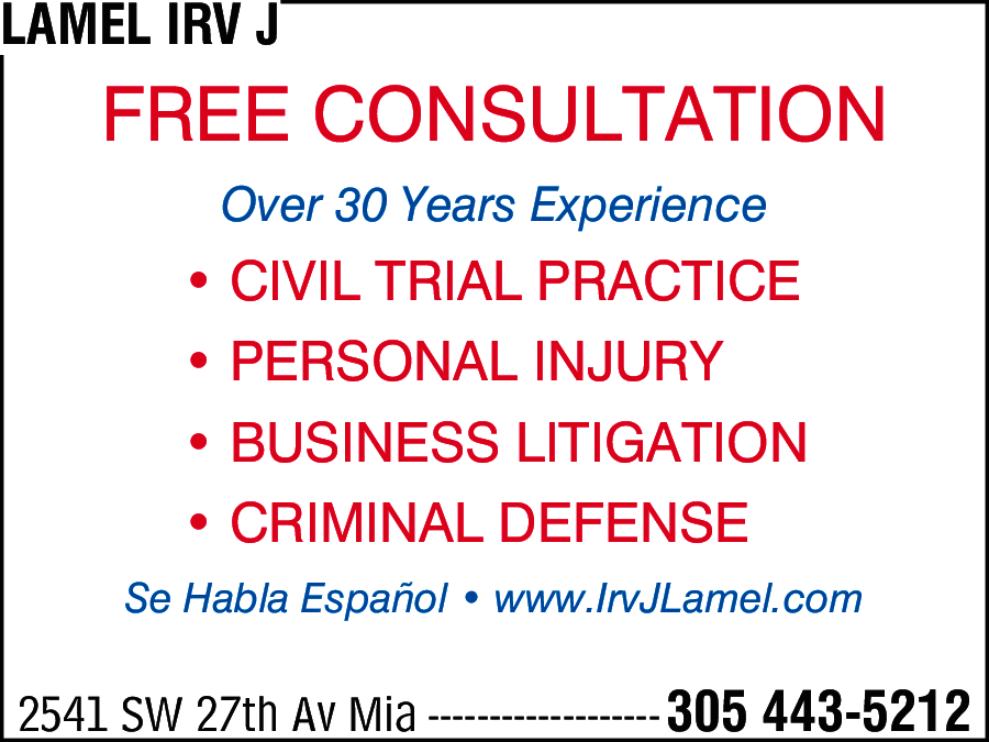 Law Offices Of Irv Lamel