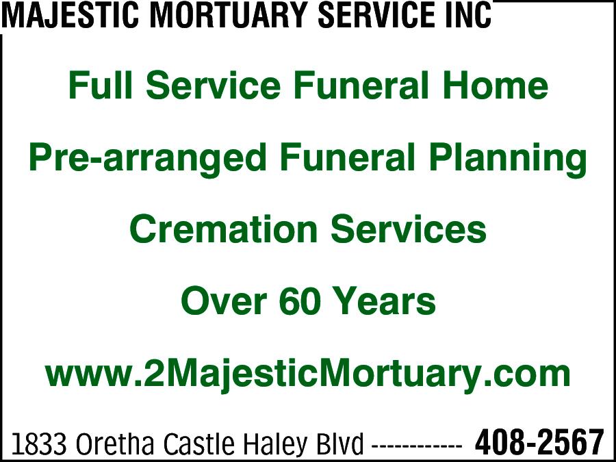 Majestic Mortuary Service Inc