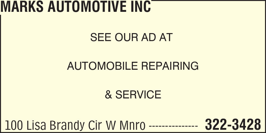 Marks Automotive Inc