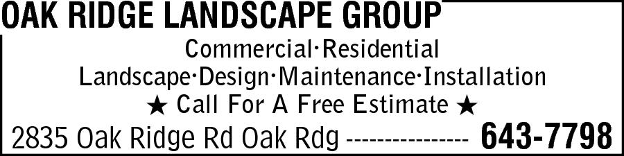 Oak Ridge Landscape Group