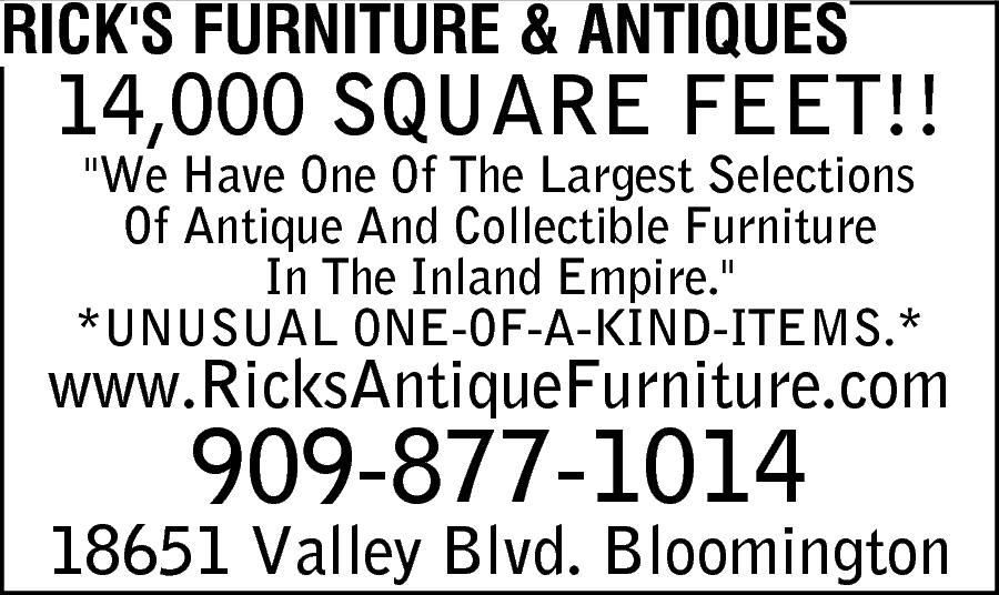 Rick 39 S Furniture Antiques Bloomington Ca 92316
