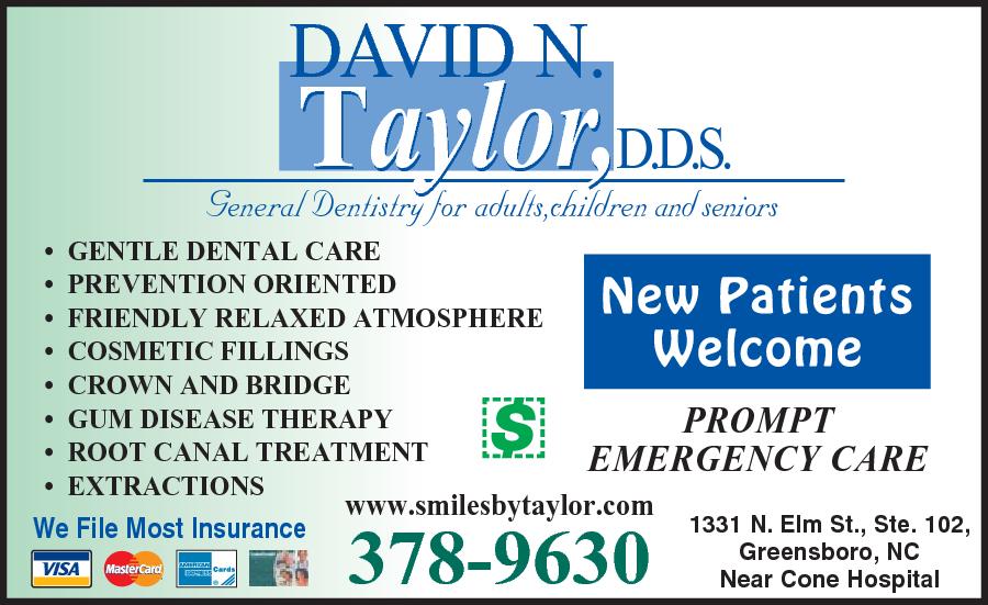 Taylor, David N DDS