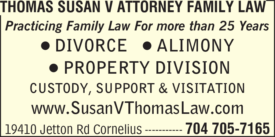 Thomas Susan V Attorney Family Law
