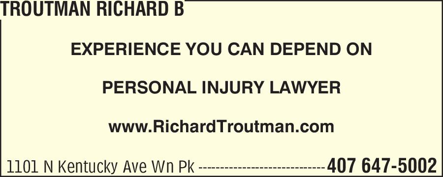 Troutman Richard B