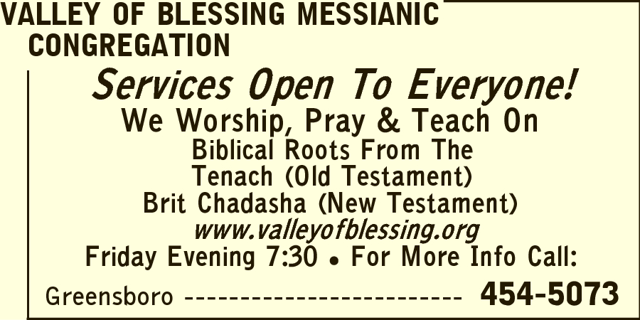 Valley of Blessing Messianic Congregation