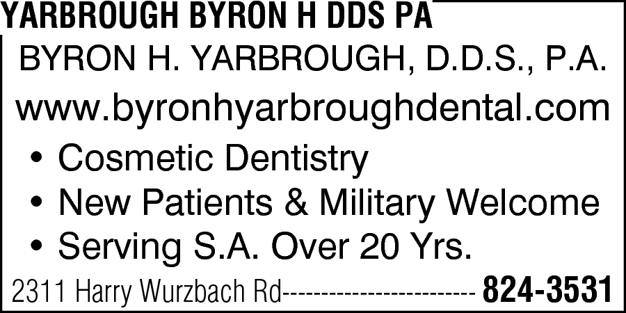 Yarbrough, Byron H. DDS, PA