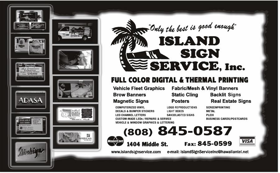 Island Sign Svc Inc - Honolulu, HI