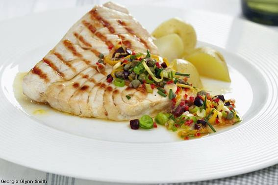 Swordfish with Citrus Notes