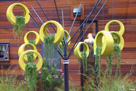 Circle Pots Potted Dwell on Design