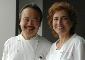 Chef Hiro Sone and Lissa Doumani