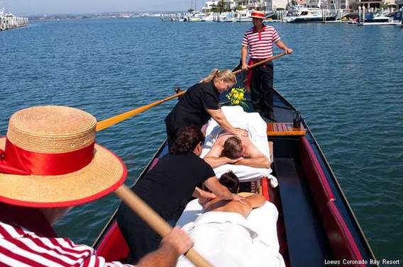 Couples gondola massage at Loews Coronado Bay Resort