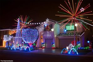 The Solymanbeyks Holiday Light Display
