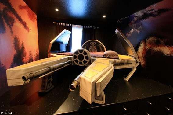 Posh Tots Deep-Space Fighter Bed