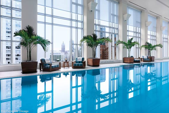 The Peninsula Chicago Indoor Swimming Pool
