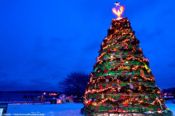 Lobster Trap Christmas Trees