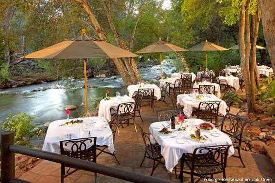 L'Auberge Restaurant on Oak Creek in Sedona, Ariz.