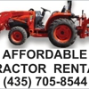 Affordable Tractor Rental ($150 Daily)