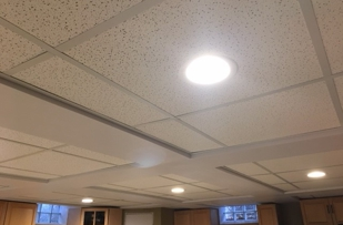 Finished ceiling.