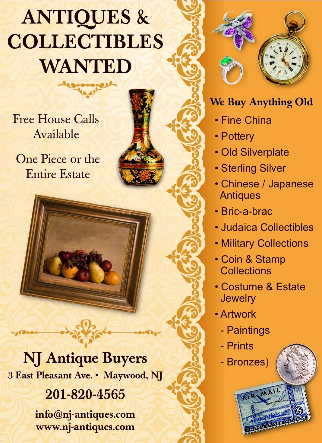 Nj Antique Buyers 3 East Pleasant Avenue Maywood Nj 07607 Yp Com