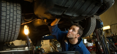 servicing a car