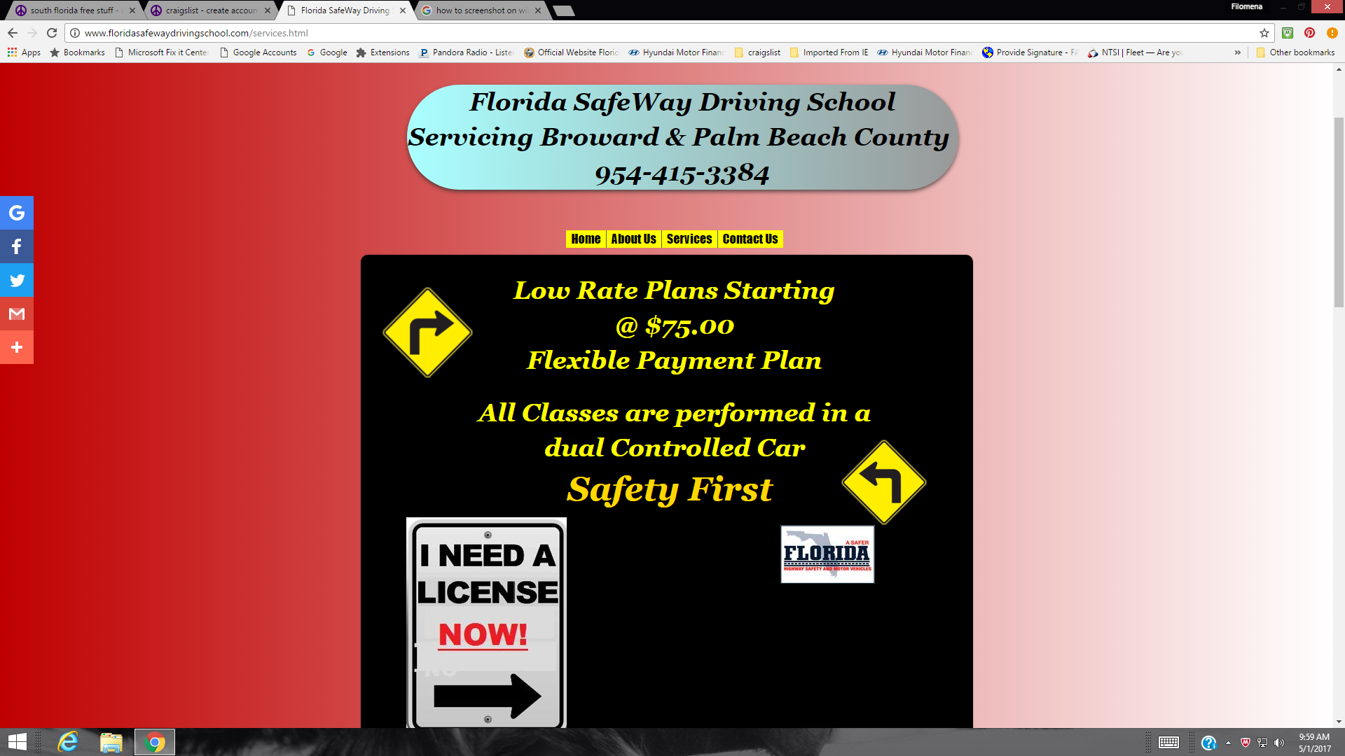 Florida Safeway Driving School 3129 Cape Cir Margate Fl 33063 Yp