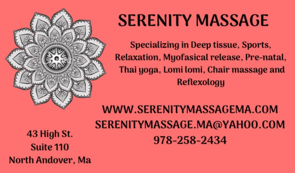 Serenity Massage 43 High St Ste 110a, North Andover, MA 01845 - YP.com