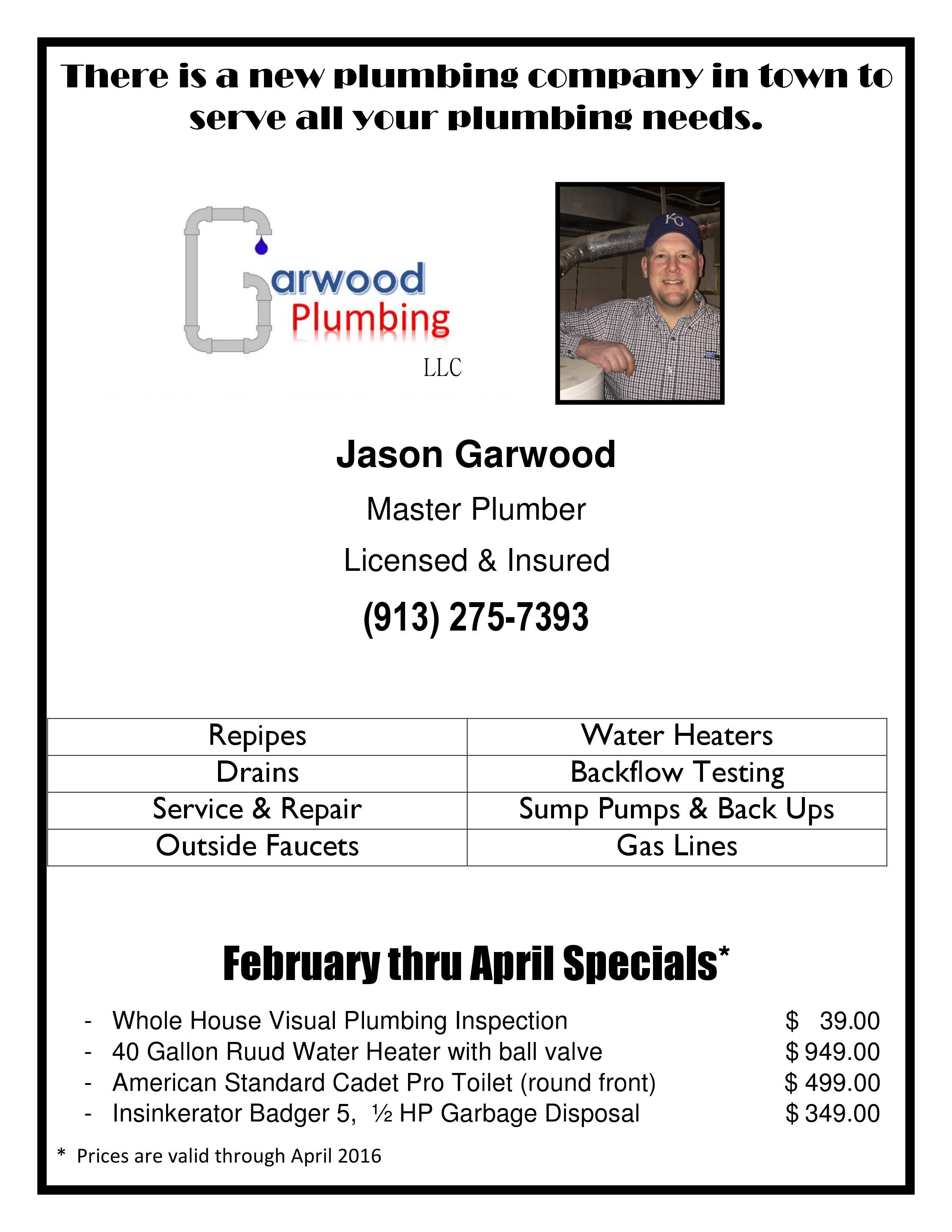 Garwood Plumbing LLC 8345 Riggs St, Overland Park, KS 66212 - YP.com